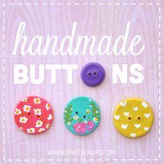 DIY: Handmade Polymer clay Buttons #embellishment #diy #tutorial #button #crafts