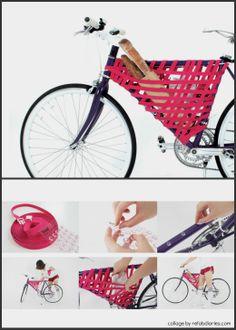 "Instant bike storage... turn negative space into a bike ""basket"" on the go."
