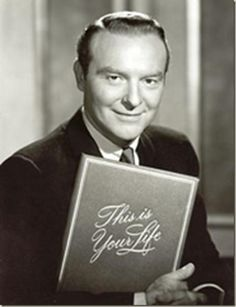 """ON THIS DATE:""""THIS IS YOUR LIFE"""" MADE TV DEBUT ON THIS DATE IN 1952.  This Is Your Life is a television documentary series, originally hosted by its producer, Ralph Edwards It was broadcast on NBC from Wednesday October 1, 1952 till 1961. Edwards revived the show in 1971-1972 and returned for some specials in the late 1980s, before his death in 2005. This Is Your Life originated as a radio show on NBC Radio airing from 1948 to 1952."""