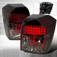 Dodge Caliber JY Led Tail Lights - Gunmetal