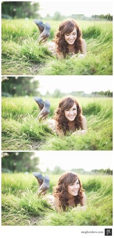"""original pinner says: """"One of my favorite poses for girls... laying down toward the camera with the sun behind. You can even throw in a small speedlight or reflector in front to fill in the face."""