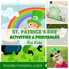 Free St. Patrick's Day Activities & Printables for Kids on modernmami.com #StPatricksDay #printables #kids