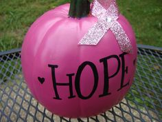 PINK HOPE Pumpkin - Breast Cancer Awareness