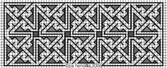 Key patterns are characteristic for Celtic art of the Middle Ages. (5) celtic art, crochet rug, cross stitch, needl excel, celtic xstitch, celtic knot, stitch stuff