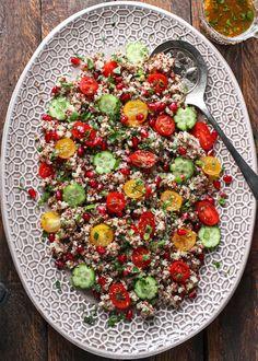 Mid-Winter Quinoa Tomato Pomegranate Salad