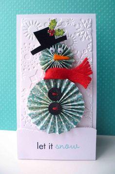 snowman paper rosette card