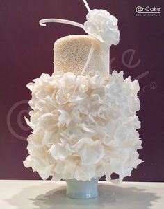 dreams  - wedding cake with sugar paste, wafer paper, and micro beads of sugar!