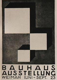 A postcard for the first Bauhaus exhibition in 1923