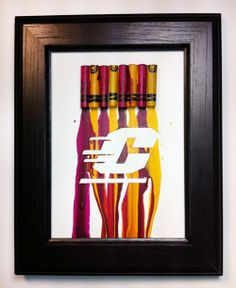 "Melted Crayon Art - Central Michigan ""C"""