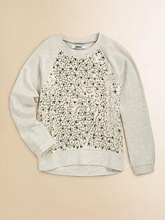 DKNY - Girl's Sequin Sweatshirt - Saks.com