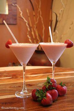 Strawberry Rum Sundae  ~ 4 oz. Cruzan Strawberry Rum  1 1/2 cups Vanilla Ice Cream  1 cup fresh sliced strawberries  1/2 cup pineapple juice