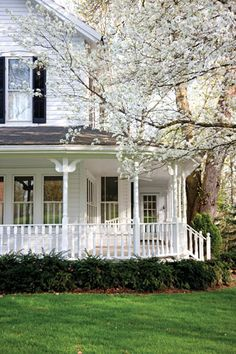 """I really yearn for a wrap-around porch....extending off a classic white house.""  Adding my own comment to say, I have the classic white house - now just need to add the verandah."