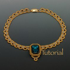 Beaded Necklace Tutorial Sparkling Lace Collar Digital Download