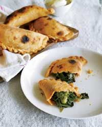 Spinach-and-Green-Pea Empanadas Recipe from Food & Wine