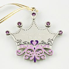 Purple Tiara #Christmas Ornament #thingsengraved #thingsengravedgifts