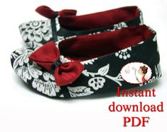Sewing. Baby. Pattern. Formal Ballerina Shoes by LenasShoePatterns