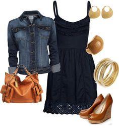 Jeans Jacket & Little Dress