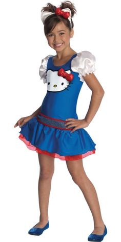 Girls Blue Hello Kitty Costume - Party City