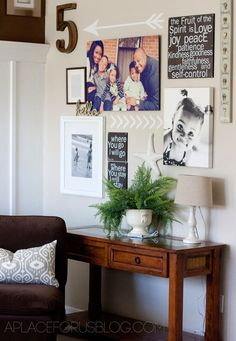 Instagram Inspired Gallery Wall / table vignette
