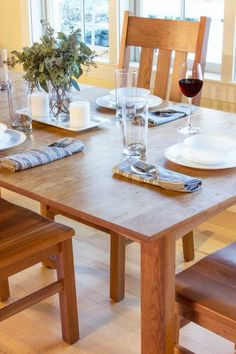 Woodland Dining Table in Cherry Wood.