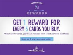 Okay who loves Hallmark Cards? Check out the new Hallmark Cards Rewards Program! Earn rewards when you buy Hallmark cards. Redeem them at Hallmark and participating retailers like Lands End, Starbucks and more!