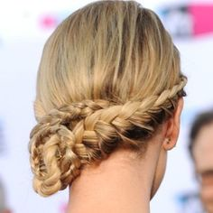 Braided side bun.