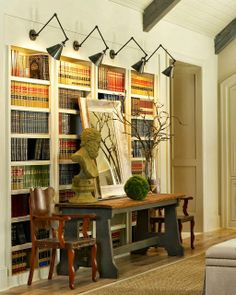 Lighting idea for bookcases