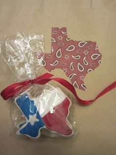 Texas state flag cookies (perfect for wedding welcome bags)