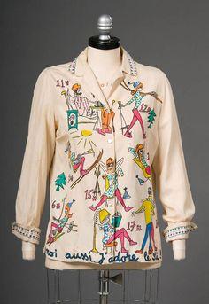 Late 1950s ski blouse