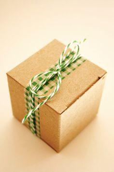 packaging: washi tape + baker's twine