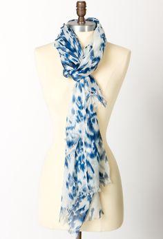 #Blurred Ikat Print Scarf  Fashion #2dayslook #fashion #new #nice www.2dayslook.com