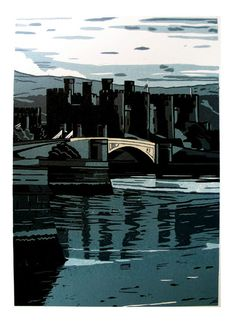 Ann Lewis - Artist/Printmaker  Conway castle