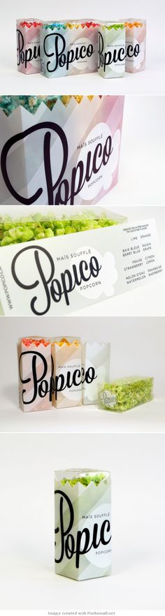 Unique Packaging Design on the Internet, Popico Pop Corn #packagingdesign #packaging #design http://www.pinterest.com/aldenchong/
