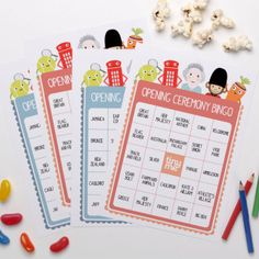 Opening Ceremony Bingo - and more free printables