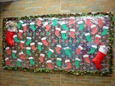 December Birthday Bulletin Board Stockings