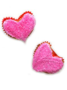 Heart-Shaped Cupcakes #valentinesday