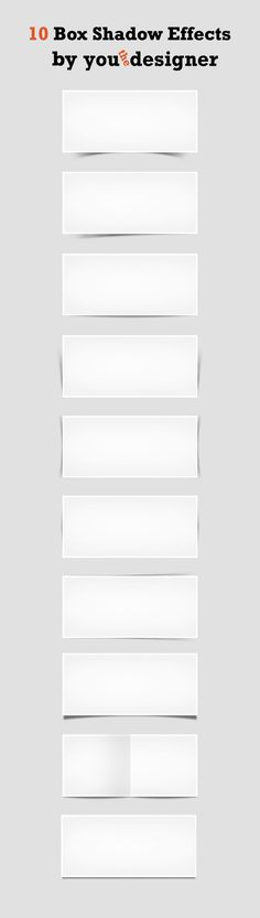 Just a useful image showing how many different types of box shadows there are