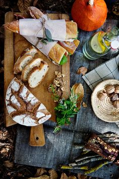 cutting boards, summer picnic, foods, sandwich, autumn, company picnic, picnics, breads, lunch