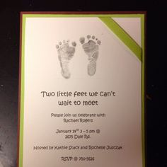 Cute baby invites for a girl friends baby shower!