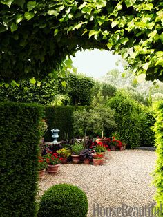 french country landscape design ideas | Flower Garden Ideas - French Country Interior Design - House Beautiful