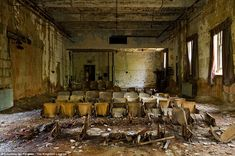 Auditorium, School and Services Building: New York's abandoned North Brother Island Hospital