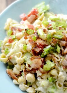 BLT pasta salad. 3 points plus / 1 cup       3⅔ cup large macaroni shells pasta, cooked     4 cup tomatoes, diced     4 slice bacon, cooked and crumbled     3 cup lettuce, thinly sliced     1 tsp sugar     2 tsp cider vinegar     ½ cup fat free mayonnaise     ⅓ cup light sour cream     1 tbsp dijon mustard     1 salt     1 pepper pasta salad recipes, cups, watcher blt, blt pasta salad, diaries, bacon, recip diari, weight watcher salads, weight watchers salad recipes