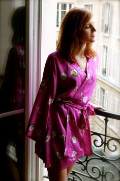 Kimono Robe sewing pattern (long and short versions).