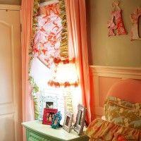 ruffl, room colors, laundry rooms, ceilings, window treatments, kid room, addison wonderland, curtain, girl rooms