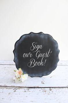 Rustic Wedding Chalkboard - Wedding Decor - FreeStanding Chalkboard Decor via Etsy