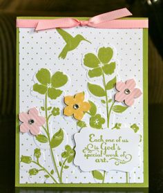 Stampin' Up! Wildflower Meadow Card by Krystal's Cards and More: Little Lambs Workshop