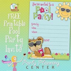 Free Pool Party #Invitation Template