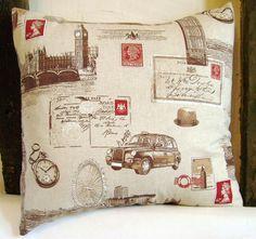Decorative pillow - London pillow cover - London pillow - Union Jack pillow - UK flag pillow - UK pillow - England pillow - British pillow. $25.00, via Etsy.