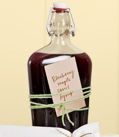 Blueberry Maple Cassis Syrup. Yum!