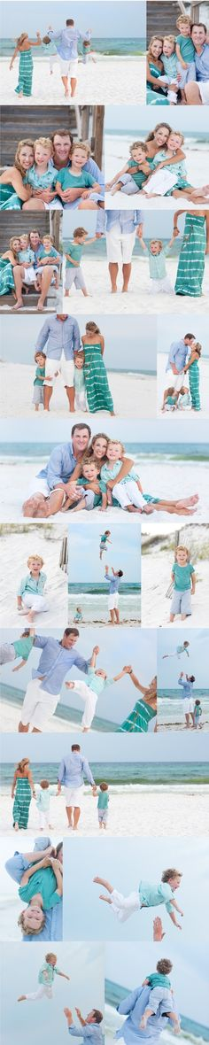 Beautiful Beach Family Photos